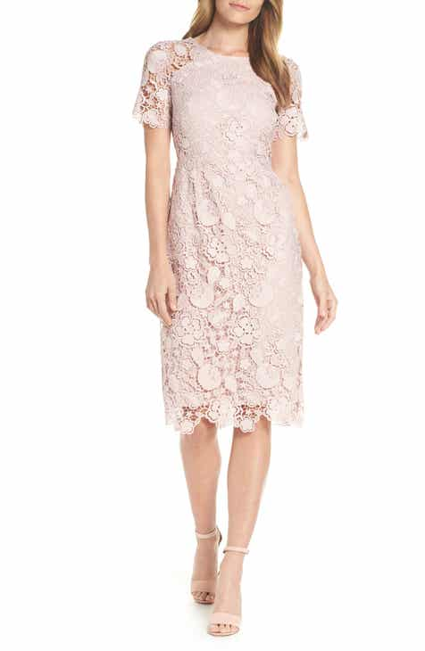 6ac6e63f76 Eliza J Embroidered Lace Sheath Dress