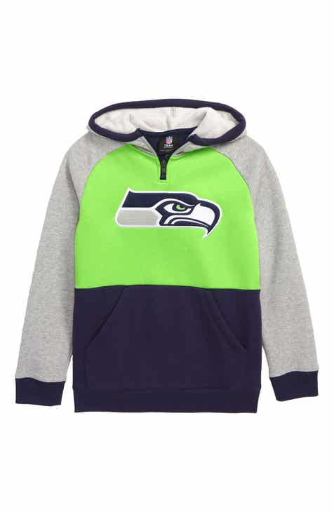 1aad837499 Outerstuff Seattle Seahawks Regulator Hoodie (Big Boys)