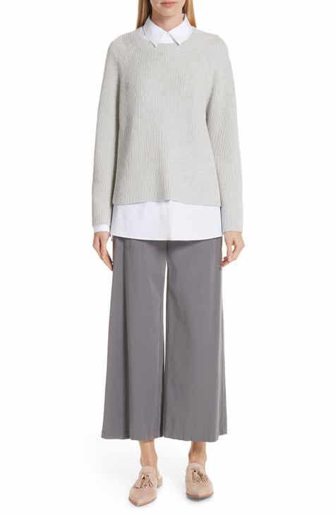 Lafayette 148 New York Cotton & Silk Open Side Pullover by LAFAYETTE 148