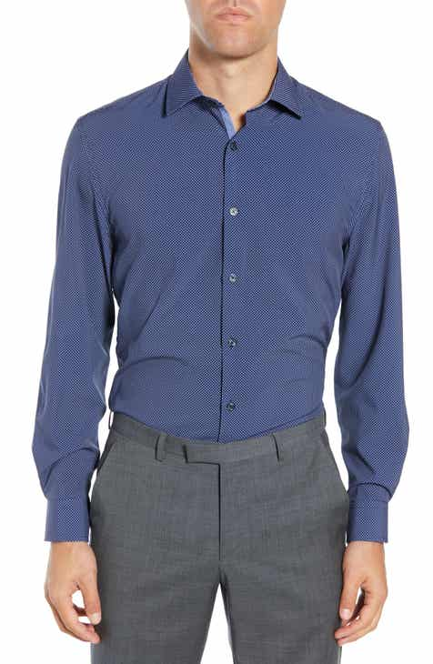 7f38fc69 W.R.K Trim Fit Performance Stretch Dot Dress Shirt