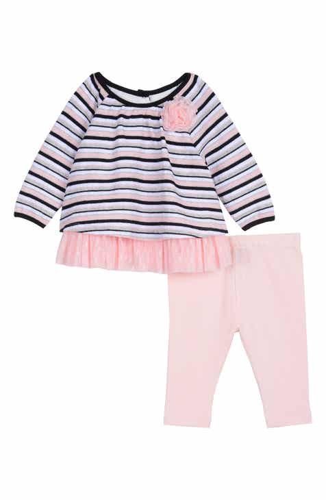 e2115276a40d Pastourelle by Pippa & Julie Stripe Swing Top & Leggings Set (Baby)