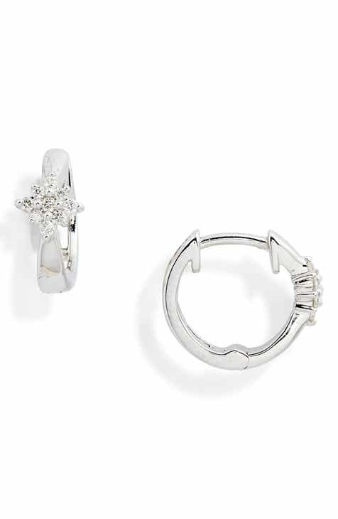 Dana Rebecca Jennifer Yamina Flower Huggie Diamond Earrings