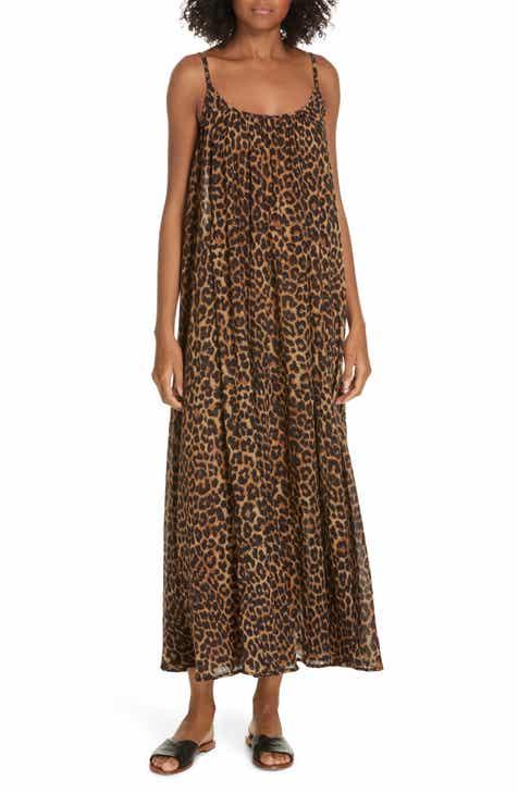 44eac9b46a55d4 Mes Demoiselles Fetiche Leopard Print Maxi Dress