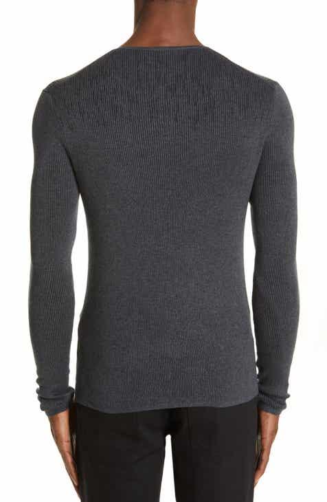 John Varvatos Ribbed Henley T-Shirt