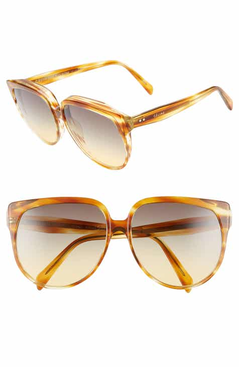 4364e26476 Céline 62mm Special Fit Oversize Cat Eye Sunglasses