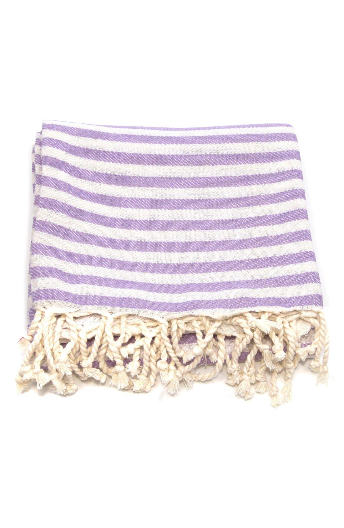 'Fun in the Sun' Turkish Pestemal Towel,                             Alternate thumbnail 3, color,                             Lilac