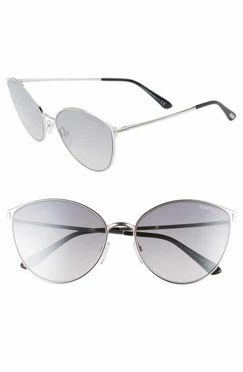 cd4d81cfb5 Tom Ford Zeila 60mm Mirrored Cat Eye Sunglasses