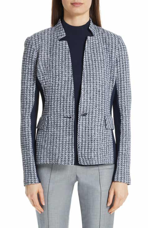 St. John Collection Contrast Geometric Knit Jacket By ST. JOHN COLLECTION by ST. JOHN COLLECTION Coupon