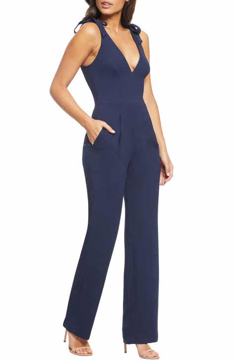 e99fe43cb50 Dress the Population Maira Tie Shoulder Crepe Jumpsuit