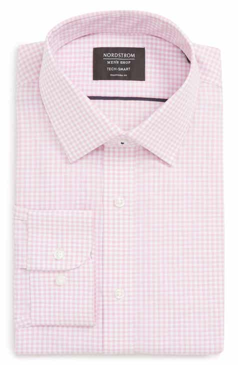 d8652ed8b8b440 Nordstrom Men s Shop Tech-Smart Traditional Fit Check Stretch Dress Shirt