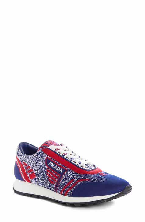 Prada Logo Knit Sneaker (Women) f1043c9df4