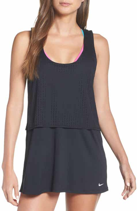Nike Sport Mesh Layered Cover-Up Dress by NIKE