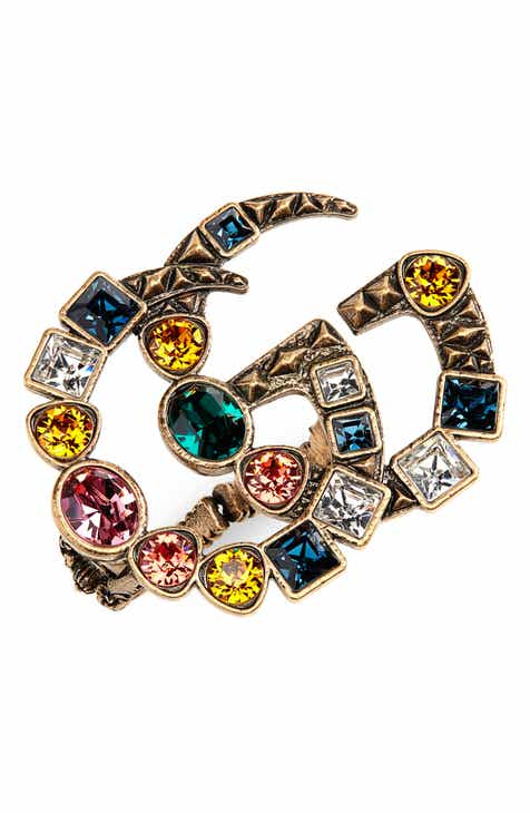 e54757e0744 Gucci Fashion Show Double-G Colored Crystal Ring
