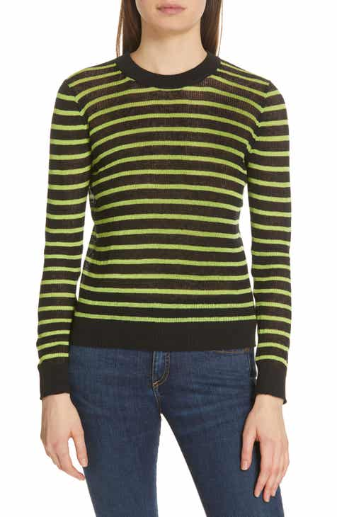 Veronica Beard Dean Stripe Linen Blend Sweater by VERONICA BEARD