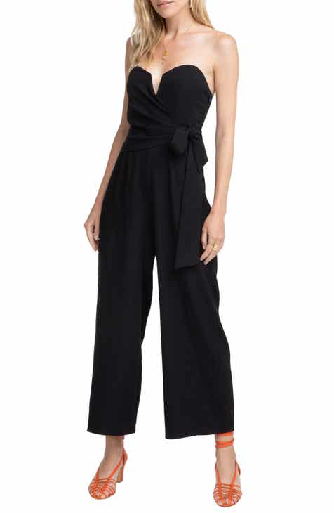 Vince Camuto Boardwalk Stripe Belted Jumpsuit by VINCE CAMUTO