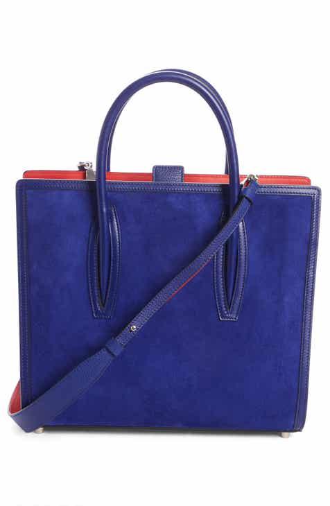 0c40e23212a8 Christian Louboutin Medium Paloma Leather   Suede Tote