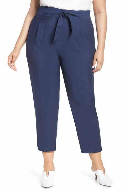 Leith Tie Front Pants (Plus Size) by LEITH