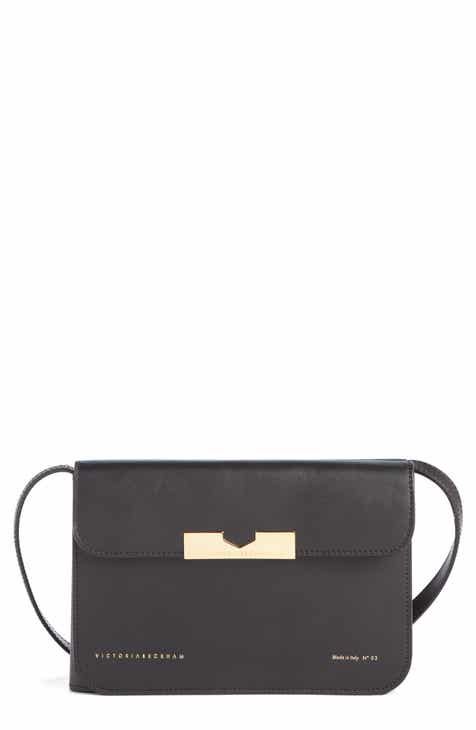 1751add288 Victoria Beckham Twin Leather Crossbody Bag