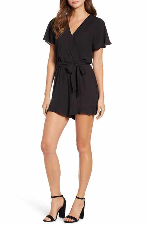 283f8f1df0 Catalina Ruffle Hem Romper (Regular   Petite) (Nordstrom Exclusive)