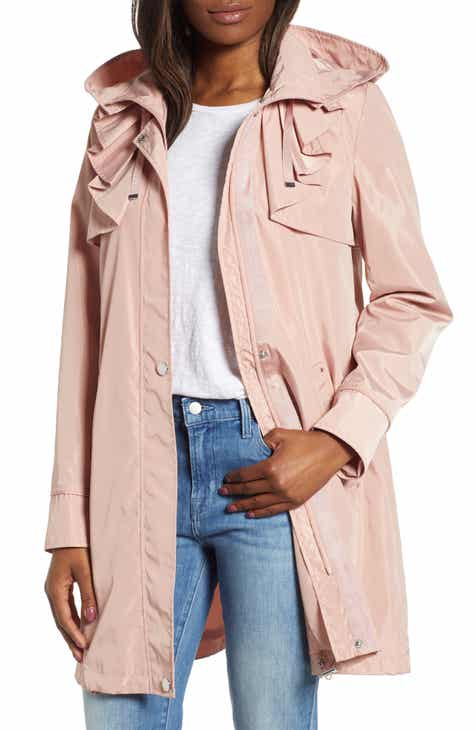 Via Spiga Ruffle Detail Packable Raincoat by VIA SPIGA