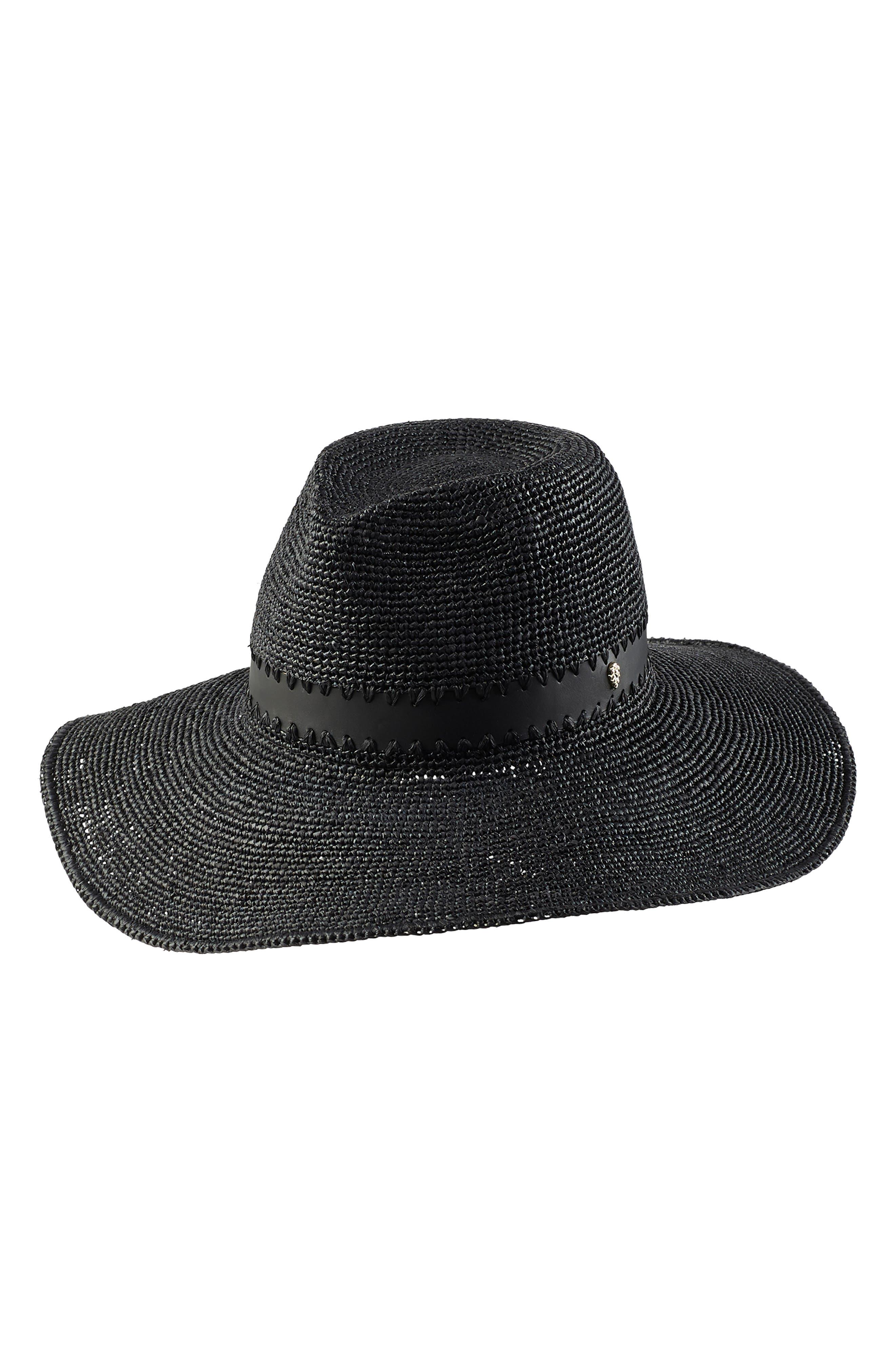 2f8b5a93203ba Women s Black Fedoras   Panama Hats