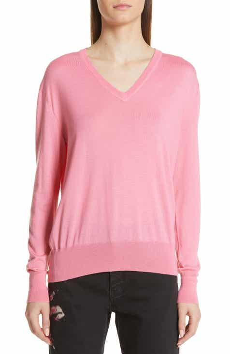 CALVIN KLEIN 205W39NYC Cutout Cashmere & Silk Blend Sweater by CALVIN KLEIN 205W39NYC