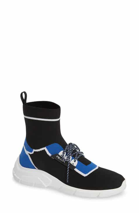 f3e9700ebe9 Prada High Top Sock Sneaker (Women)