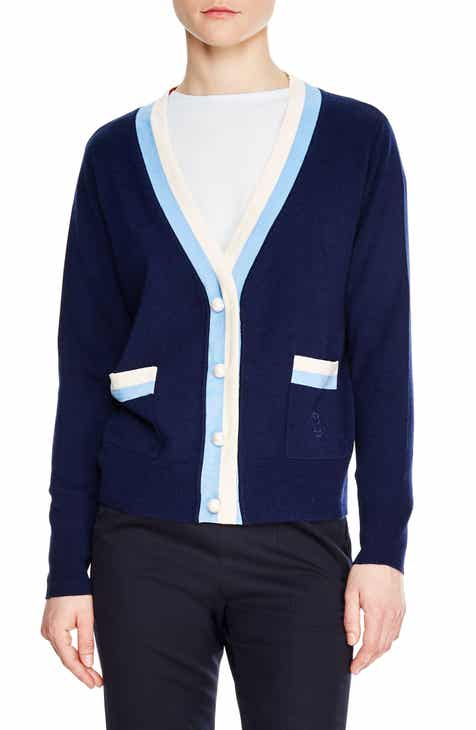 sandro Clotilde Stripe Wool & Cashmere Cardigan by SANDRO