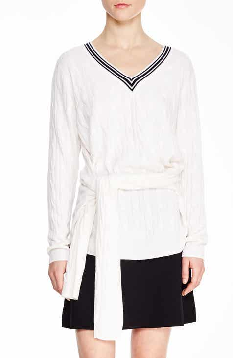 sandro Emma Tie Front Sweater by SANDRO