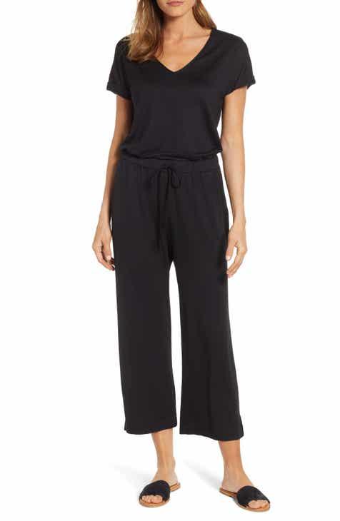 57d9da52509c Caslon® V-Neck Knit Blouson Jumpsuit (Regular   Petite)