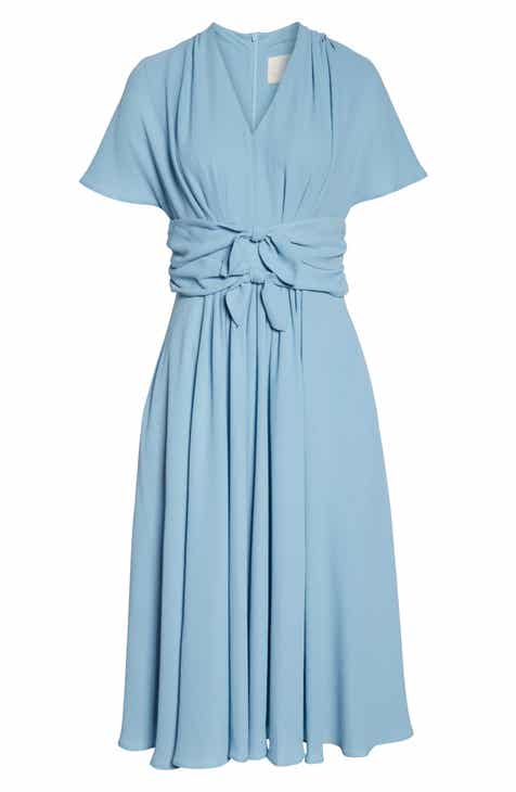 81b19343633 Gal Meets Glam Collection Jane Tie Waist Midi Dress (Nordstrom Exclusive)