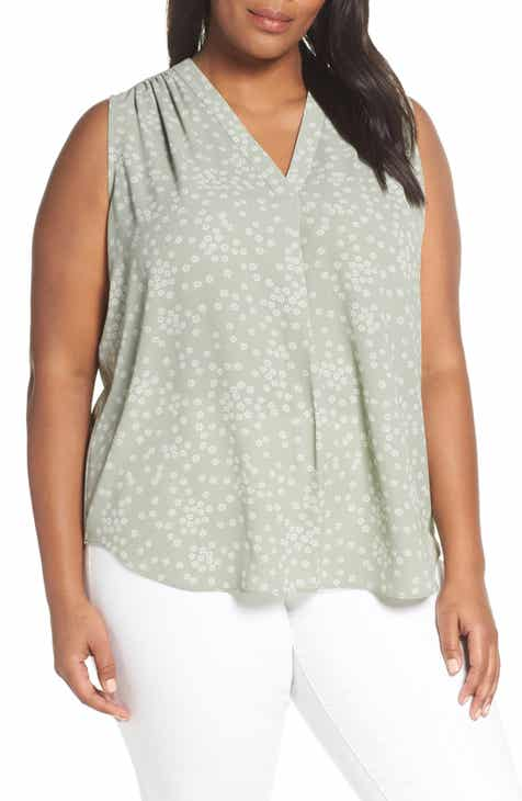 4df4bb3f9ff Vince Camuto Ditsy Showers Blouse (Plus Size)