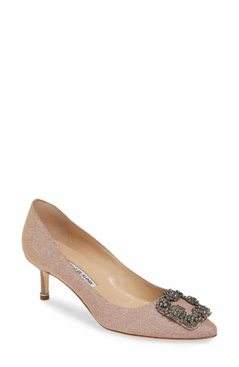831f84170439 Manolo Blahnik Hangisi Crystal Embellished Pump (Women)