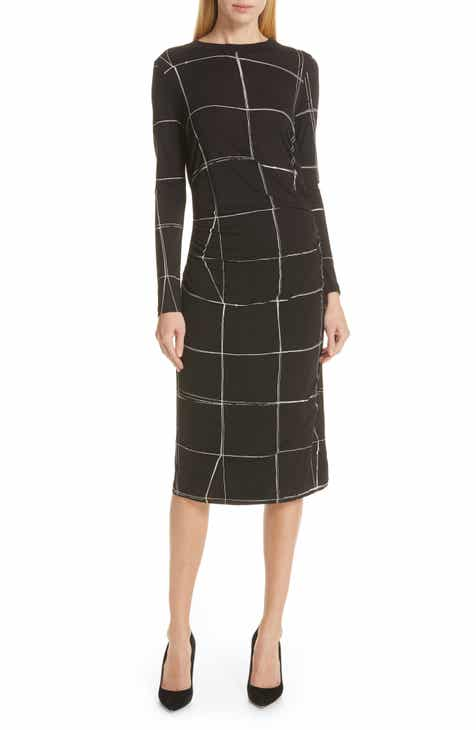 BOSS Esetta Windowpane Sheath Dress