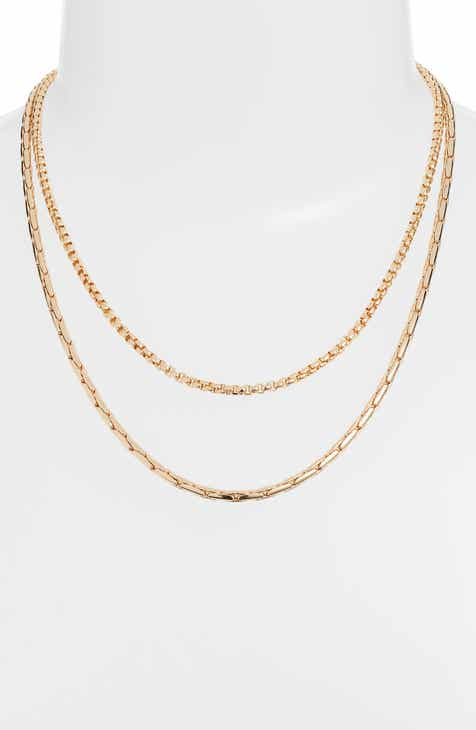 Something Navy Layered Chain Necklace (Nordstrom Exclusive) b5bac6e9f