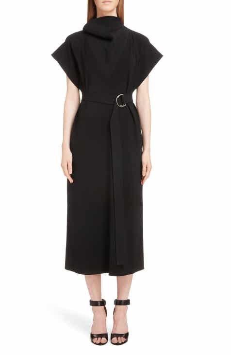 Givenchy Topstitch Jersey A-Line Midi Dress by GIVENCHY