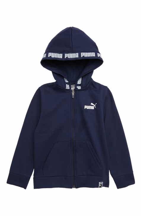 PUMA Fleece Zip-Up Hoodie (Little Boys) e4bbb1ac14