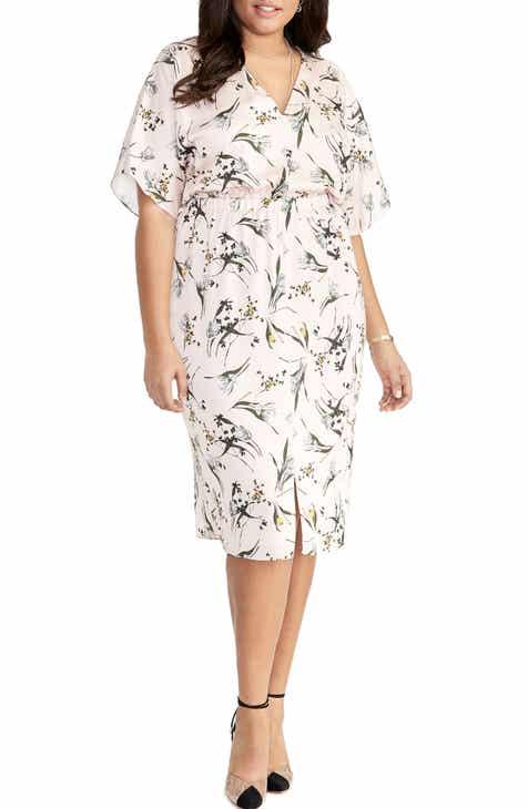 1dd501152a40 RACHEL Rachel Roy Cait Tea Rose Print Dress (Plus Size)