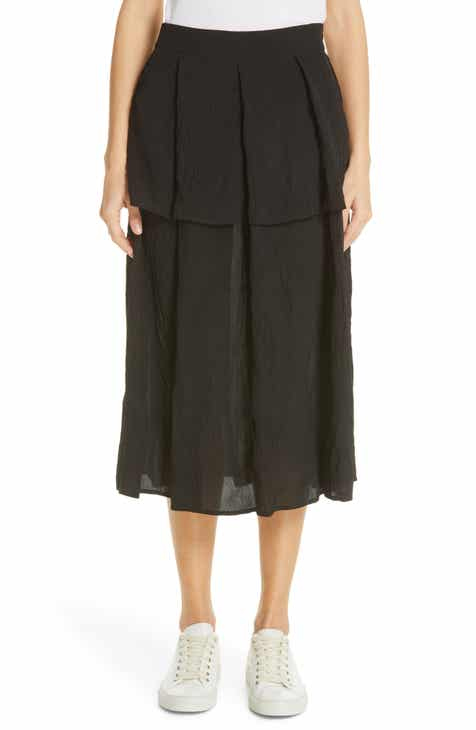 Sara Lanzi Pleat Midi Skirt by SARA LANZI