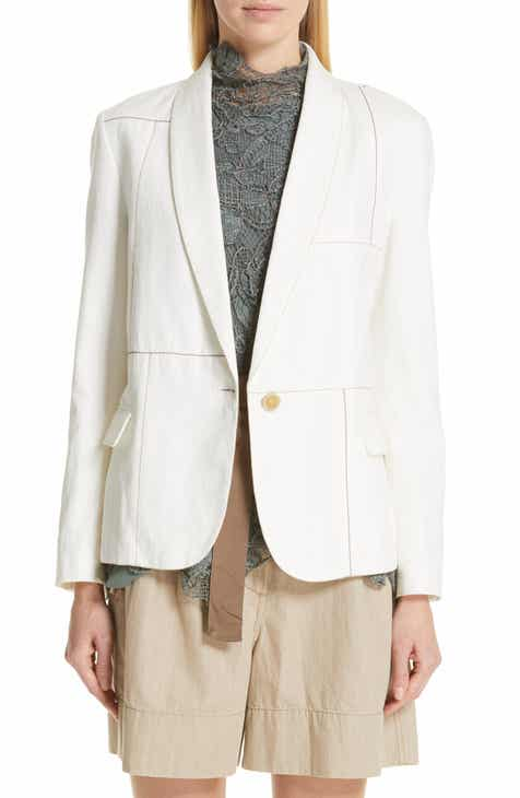 Brunello Cucinelli Monili Patchwork Linen & Cotton Jacket by BRUNELLO CUCINELLI