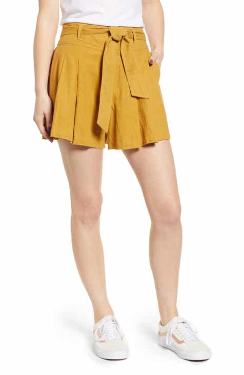 Madewell Emmett Rainbow Fleck Button Front Shorts by MADEWELL
