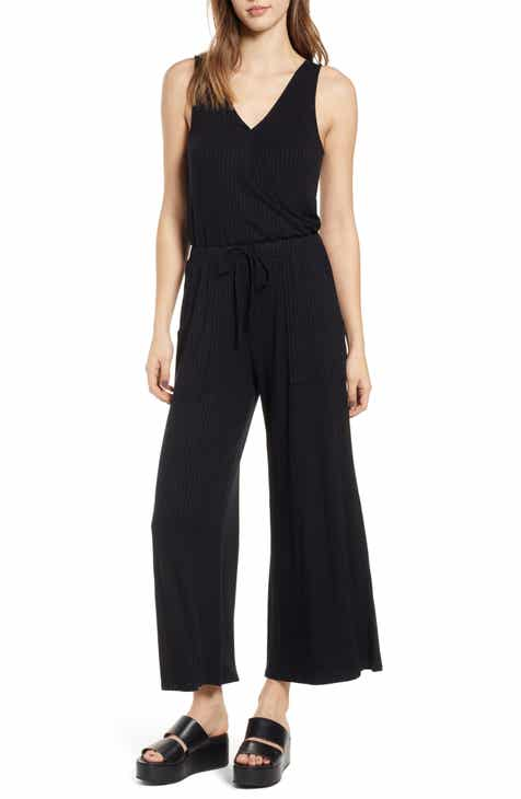 BP. Wide Leg Rib Jumpsuit (Regular & Plus Size) by BP
