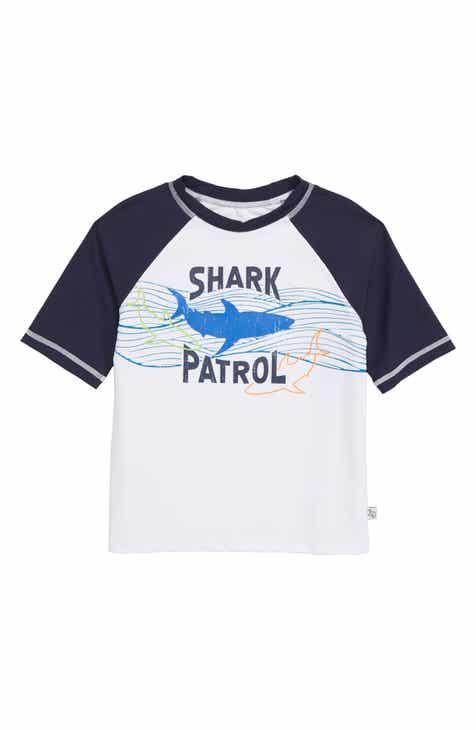 Flapdoodles Shark Patrol Rashguard (Toddler Boys & Little Boys)