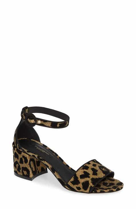 ca6ac83b17f8cf Dolce Gabbana Leopard Metallic Sandal (Women)