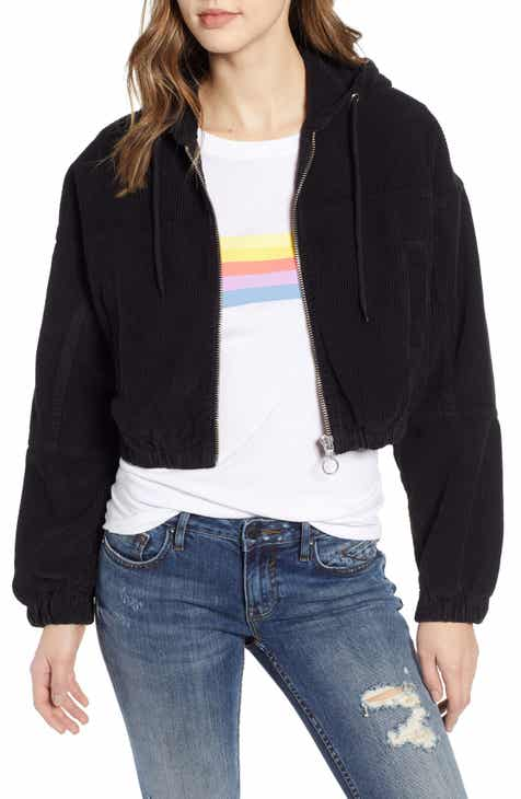 13870c23e3 BDG Urban Outfitters Corduroy Crop Hooded Jacket