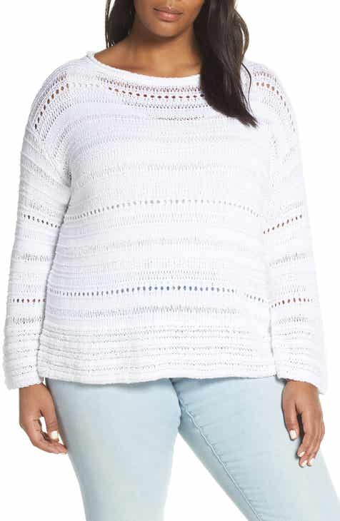 Caslon® Open Stitch Sweater (Plus Size) by CASLON