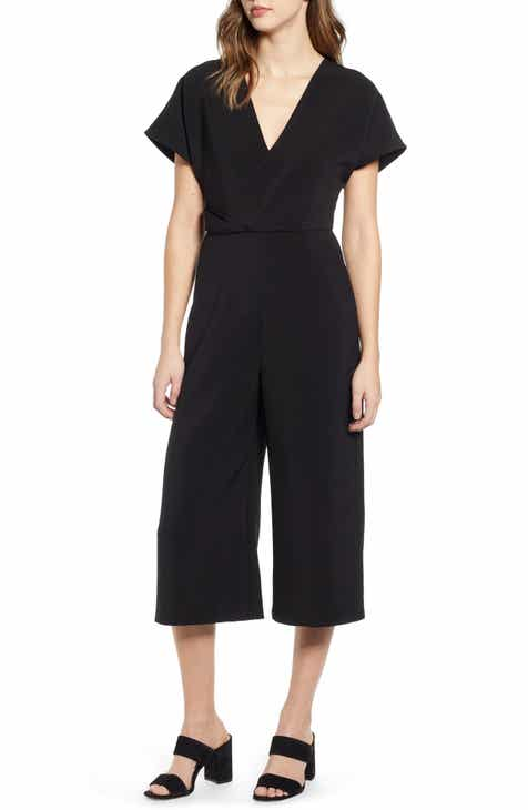 ef5996691e7c Leith Surplice Wide Leg Crop Jumpsuit