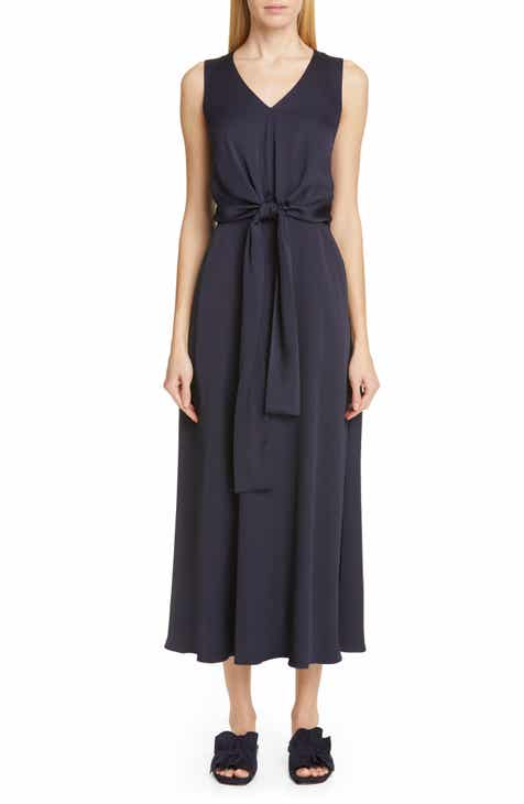 9abb77c02124 Lafayette 148 New York Ambrosia Tie Waist Midi Dress
