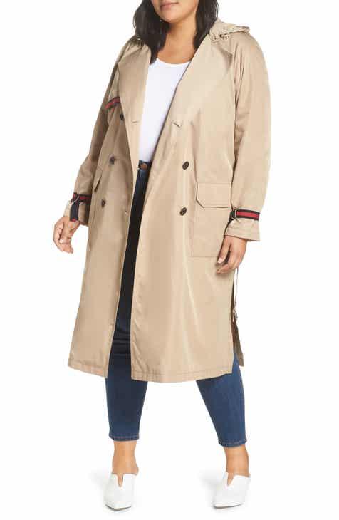 8e03eb0c0c6 RACHEL Rachel Roy Grosgrain Trim Trench Coat (Plus Size)