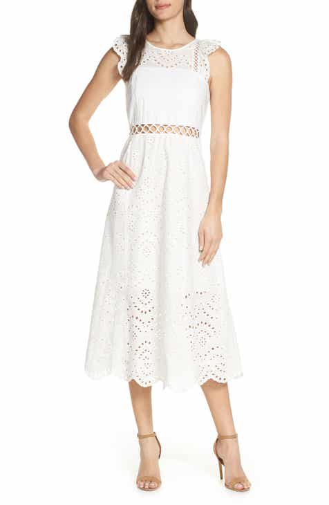 b7266f0084 Sam Edelman Eyelet Midi Dress